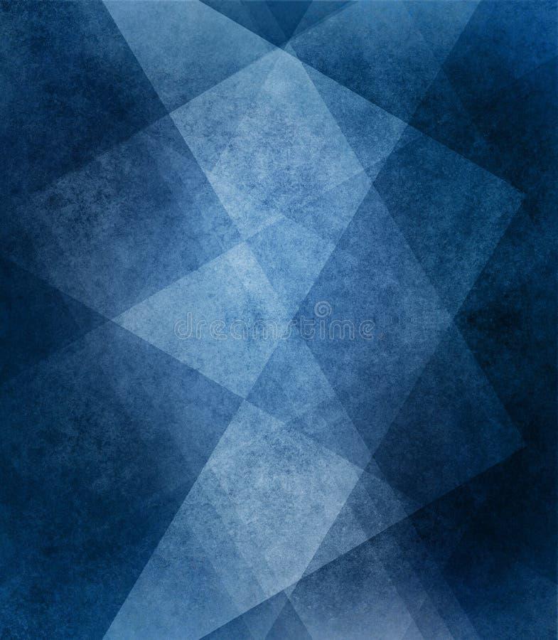 Abstracte blauwe witte gestreepte patroon en blokken als achtergrond in diagonale lijnen met uitstekende blauwe textuur royalty-vrije stock foto