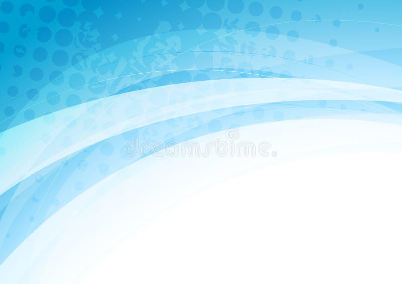 Abstracte blauwe witte golven grunge achtergrond stock illustratie