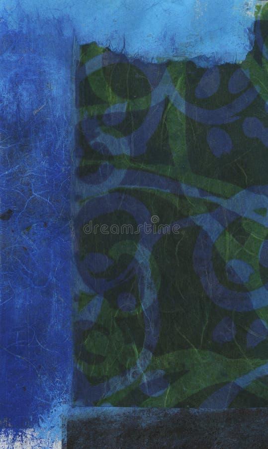 Download Abstracte Blauwgroen stock illustratie. Illustratie bestaande uit gemengd - 297895