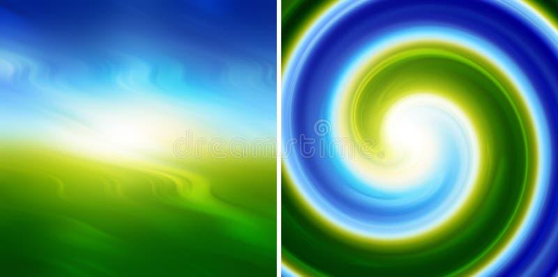 Abstracte blauwgroene achtergrond royalty-vrije illustratie
