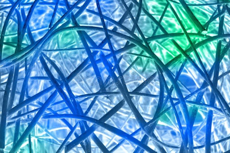 Abstracte blauwgroene lijnentextuur als achtergrond stock illustratie