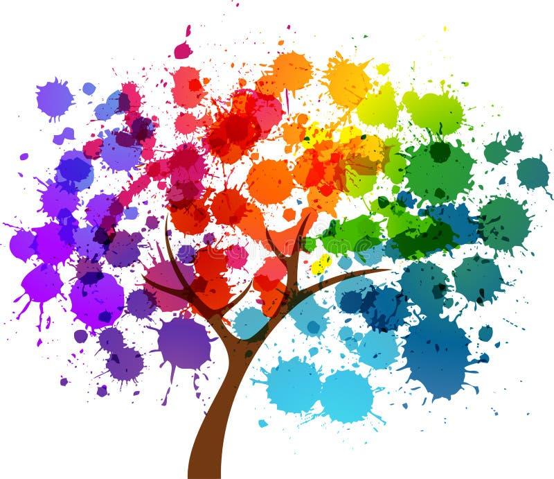 Abstracte bloem van de lente stock illustratie