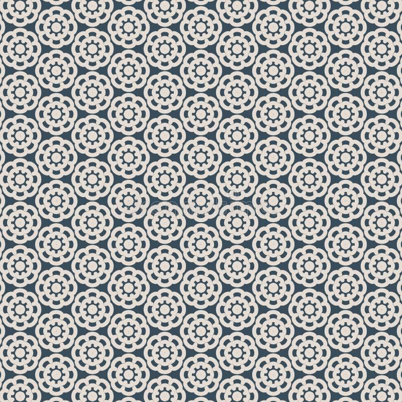 Abstracte bloem van Knipselornament, kanttextuur, vector naadloos patroon stock illustratie