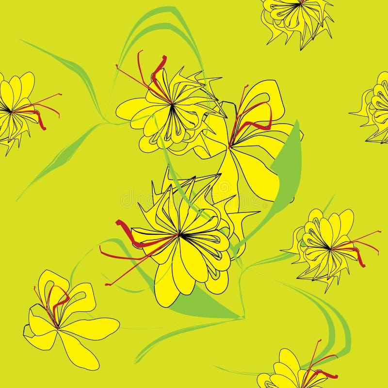 Abstracte bloemachtergrond vector illustratie