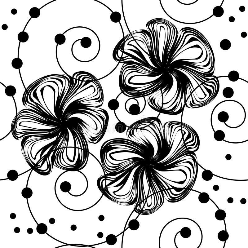 Abstracte bloemachtergrond royalty-vrije illustratie