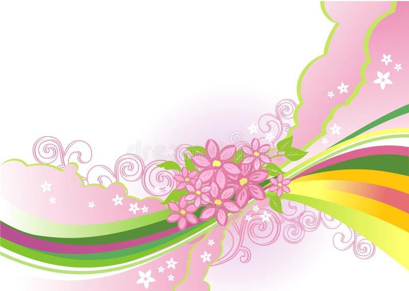 Abstracte bloemachtergrond/vector stock illustratie