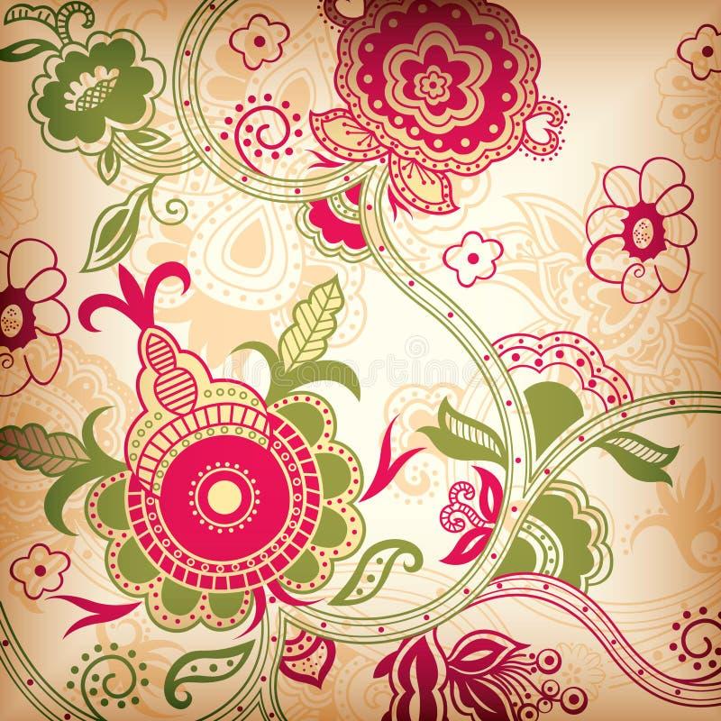 Abstracte Bloemen stock illustratie