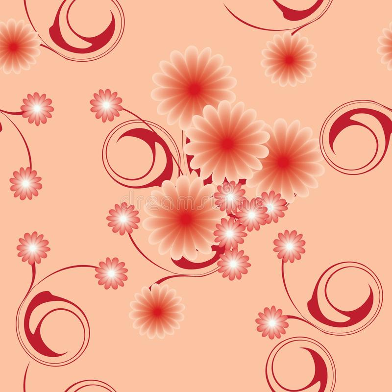 Abstracte bloemen vector illustratie