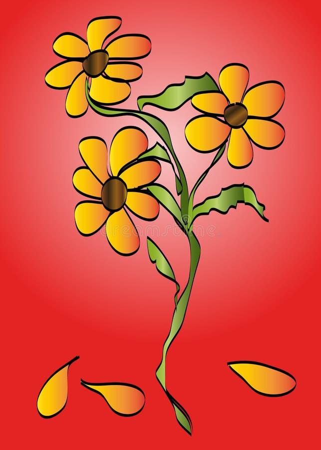 Download Abstracte bloemen vector illustratie. Illustratie bestaande uit samenvatting - 29510314