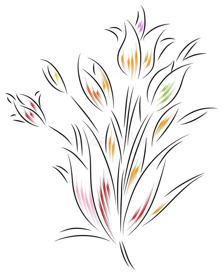 Abstracte bloemen vector illustratie