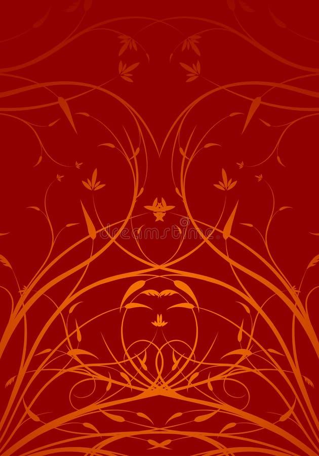 Abstracte bloemen decoratieve verticale vectorillustrati als achtergrond stock illustratie