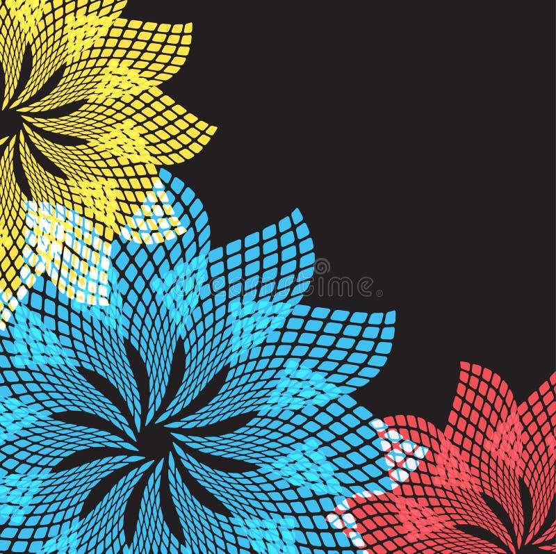 Abstracte bloemen. Vector formaat. stock illustratie