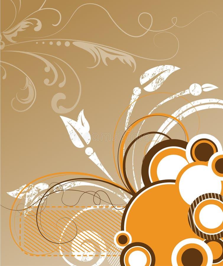 Abstracte bloemen vectorillustratie. royalty-vrije stock afbeelding