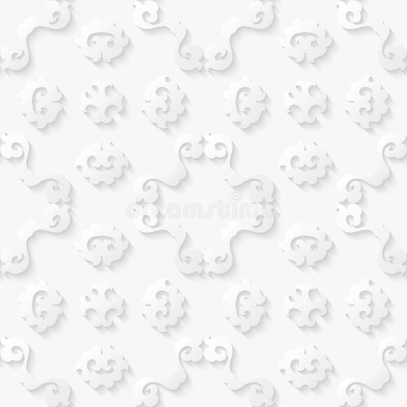 Abstracte bloemen witte achtergrond royalty-vrije illustratie