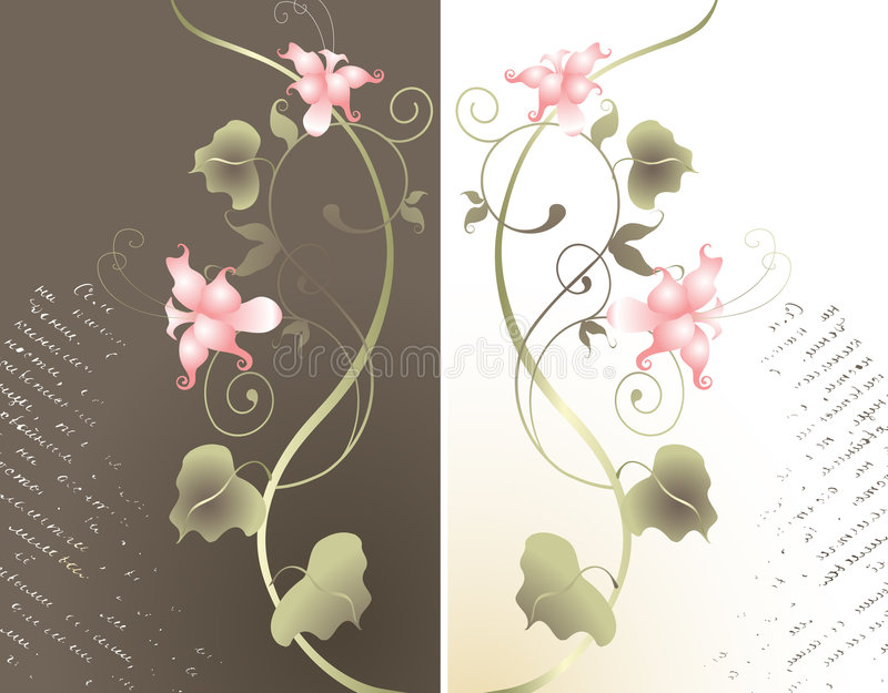 Abstracte bloemenachtergrond. vector illustratie
