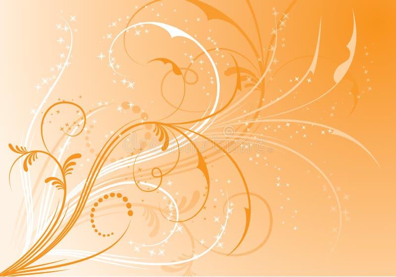 Abstracte bloemenachtergrond, elementen voor ontwerp, vector stock illustratie