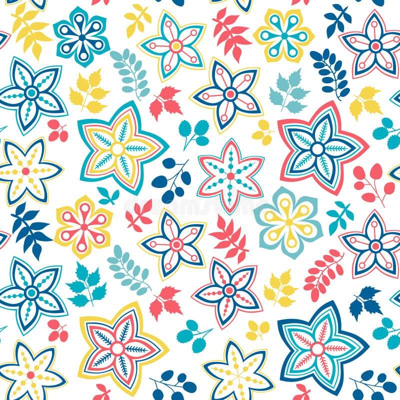 Abstracte bloemenachtergrond, het naadloze patroon van het de zomerthema, vecto royalty-vrije illustratie