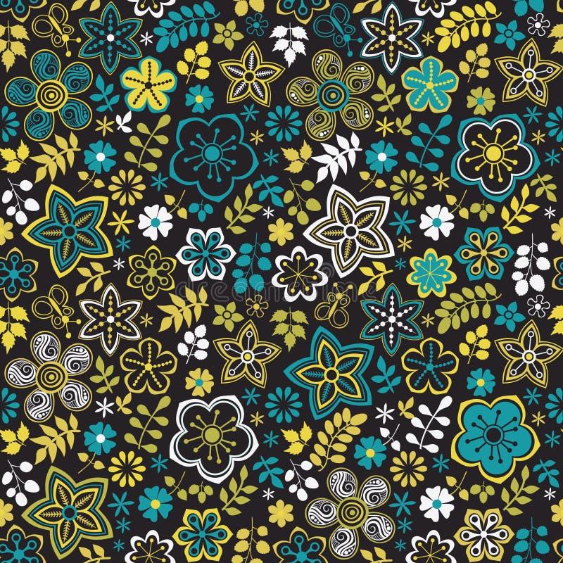 Abstracte bloemenachtergrond, het naadloze patroon van het de zomerthema, wallp stock illustratie