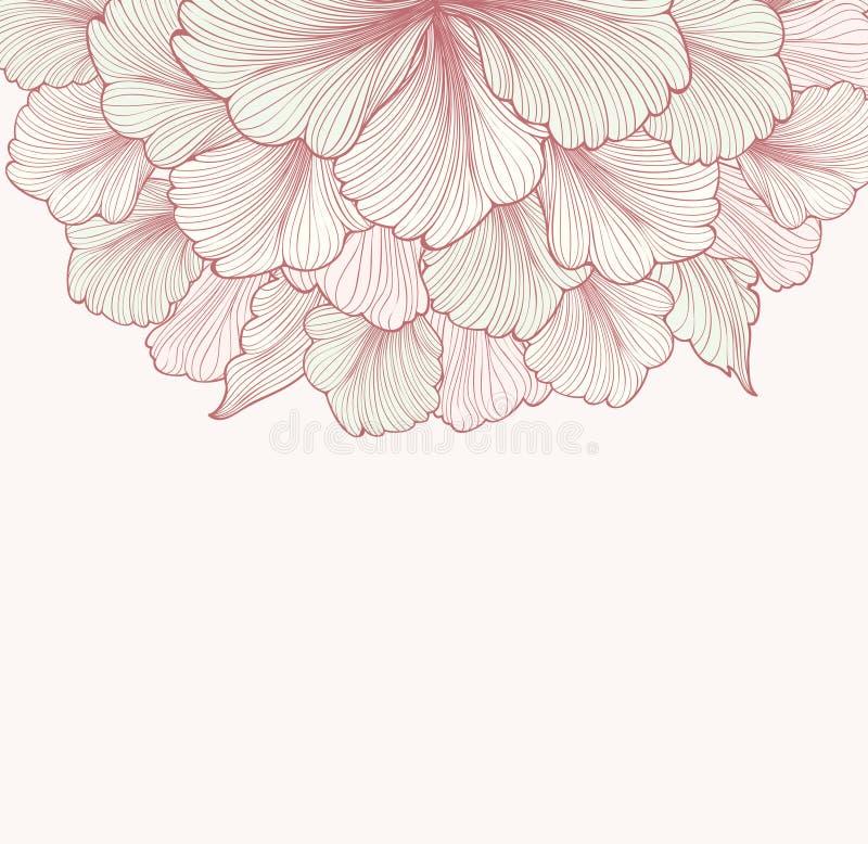 Abstracte bloemenachtergrond met bloem Bloei grens Zachte D royalty-vrije illustratie
