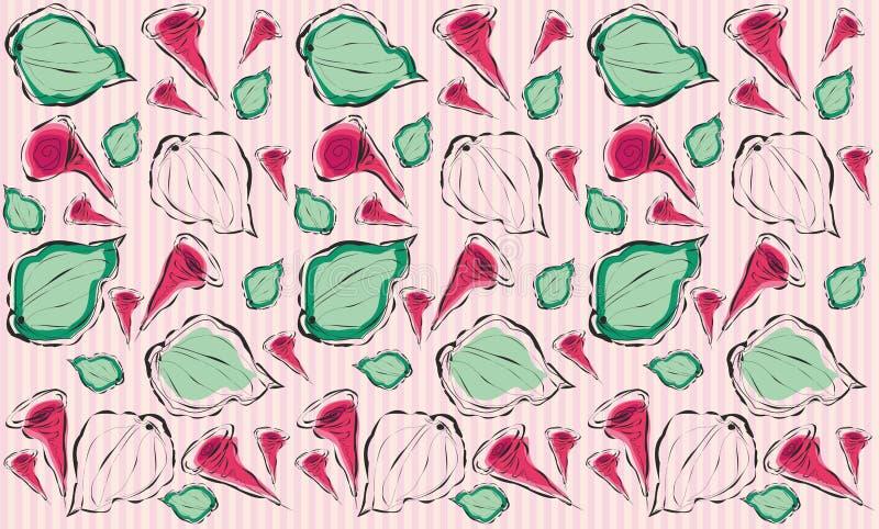 Abstracte bloemenachtergrond met het herhalen van elementen vector illustratie