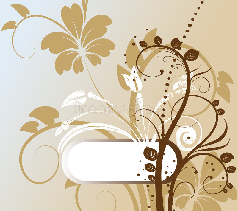 Abstracte bloemenachtergrond met vrije ruimte voor u royalty-vrije illustratie