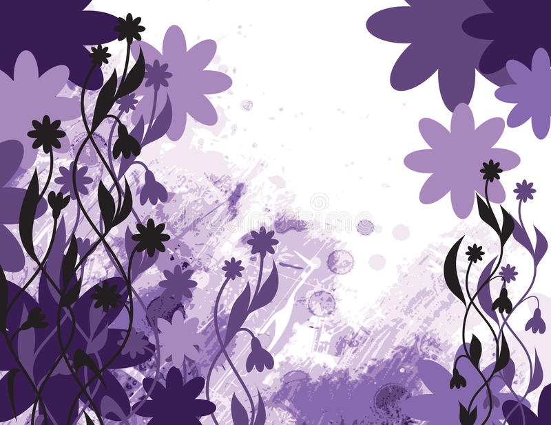 Abstracte Bloemenachtergrond. Vectorillustratie. stock illustratie