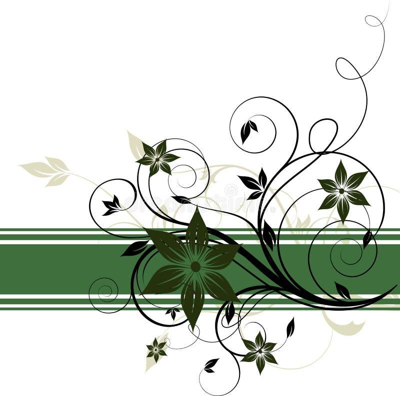 Abstracte bloemenbanner vector illustratie