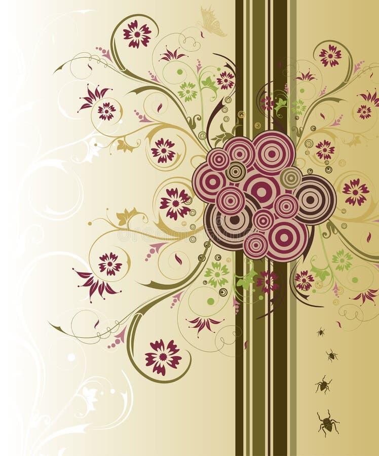Abstracte bloemenchaos royalty-vrije illustratie