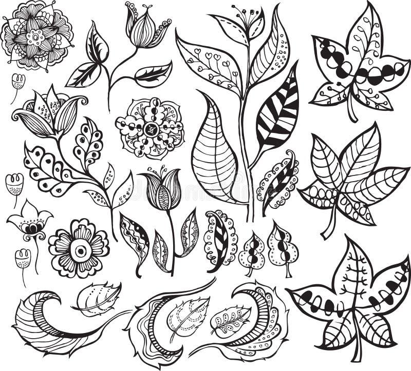 Abstracte BloemenElementen 3 van het Ontwerp stock illustratie