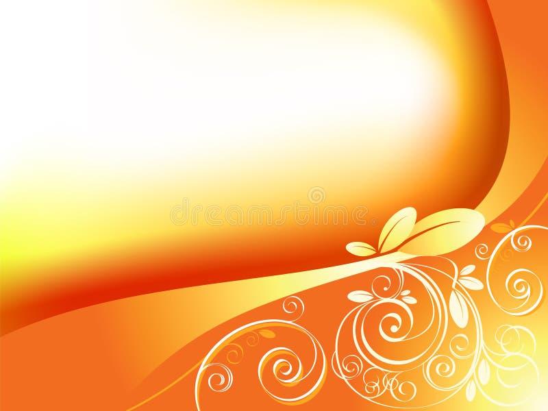 Abstracte bloemenelementenvector stock illustratie