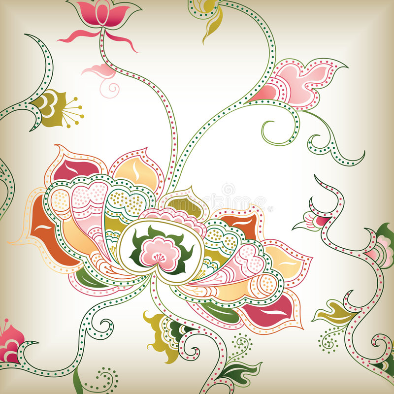 Abstracte bloemenI stock illustratie