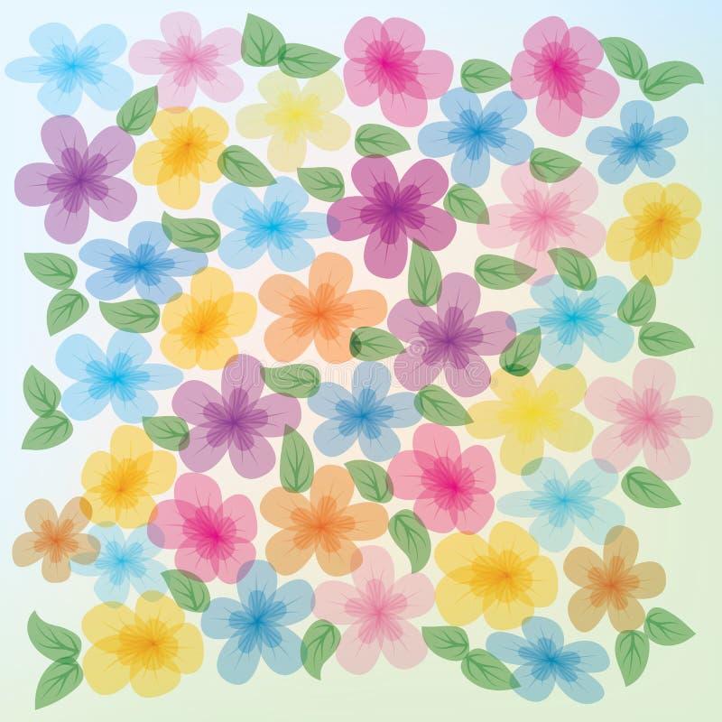 Abstracte bloemenillustratie stock illustratie