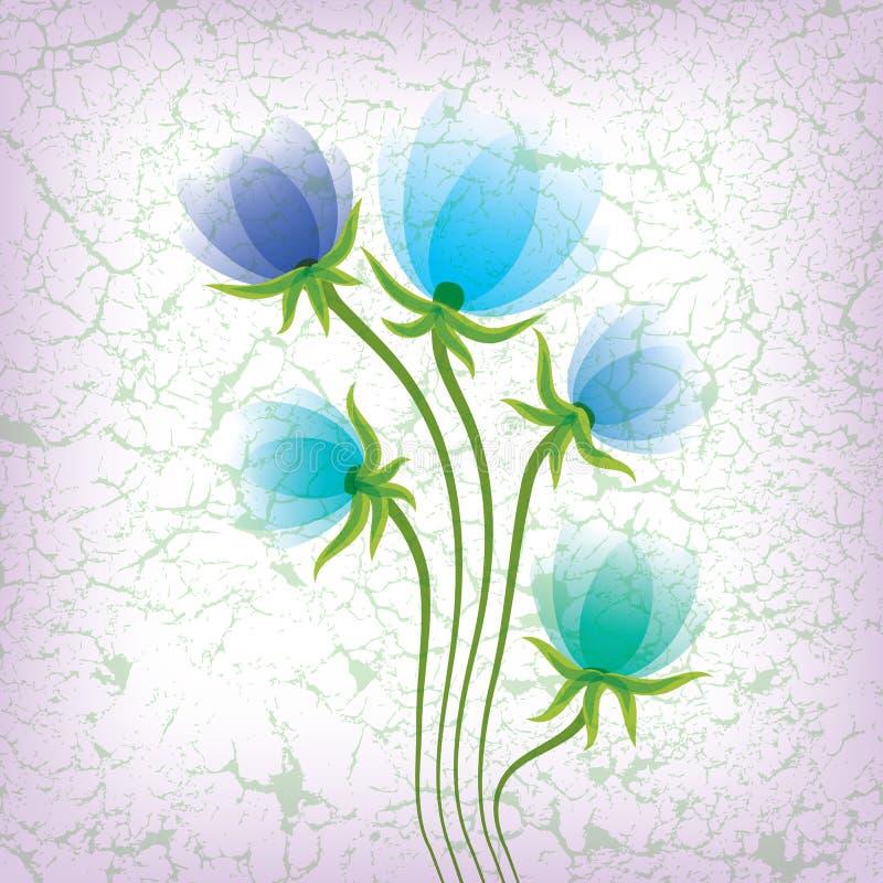 Abstracte bloemenillustratie royalty-vrije illustratie