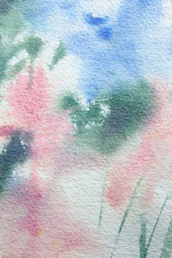 Abstracte Bloemenwatercolour 7 vector illustratie