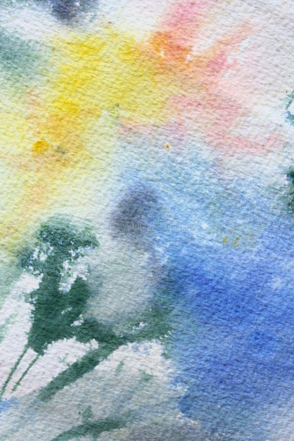 Abstracte Bloemenwatercolour 5 vector illustratie
