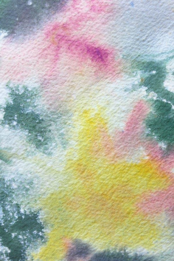 Abstracte Bloemenwatercolour 3 vector illustratie