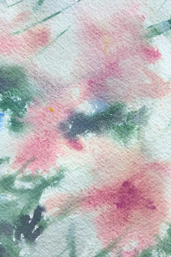 Abstracte Bloemenwatercolour 2 royalty-vrije illustratie
