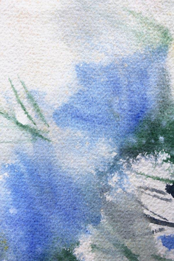 Abstracte Bloemenwatercolour 1 vector illustratie