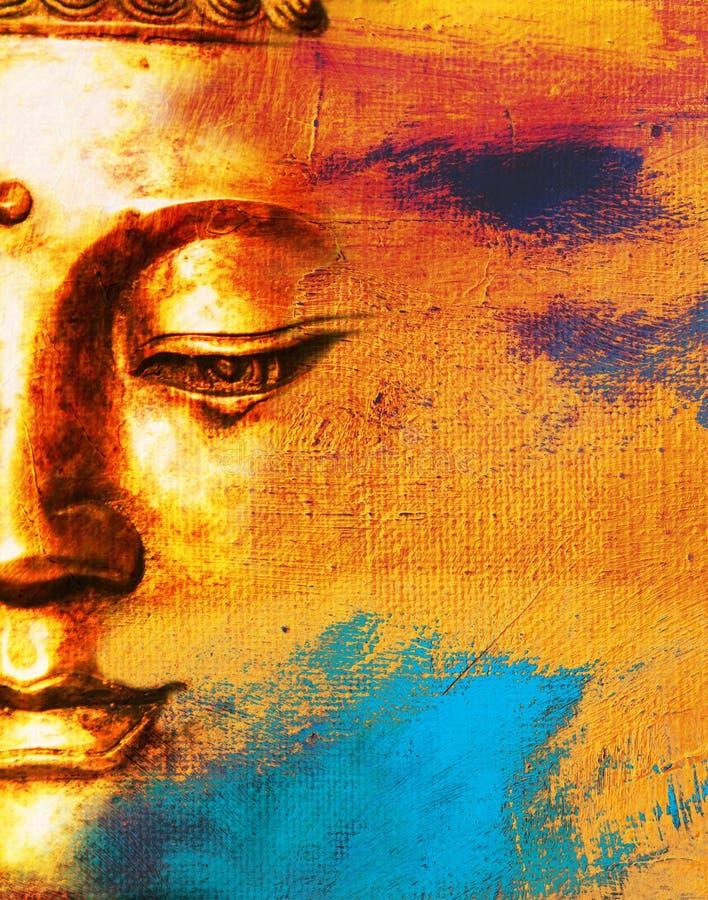Abstracte Boeddhistische Achtergrond. royalty-vrije illustratie