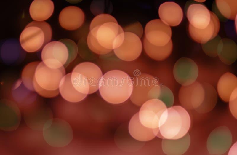 Abstracte bokehachtergrond De lichten zijn uit nadruk royalty-vrije stock fotografie