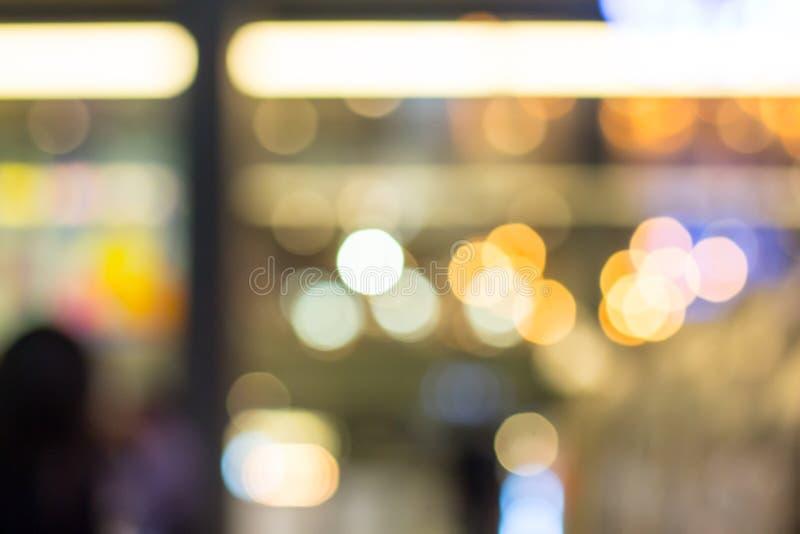 Abstracte bokehachtergrond Zacht defocused lichten Onscherpe backgrou royalty-vrije stock afbeelding