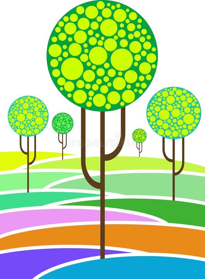 Abstracte bomen stock illustratie