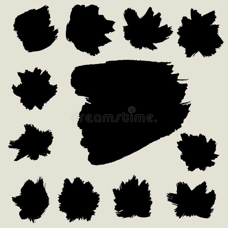 Abstracte borstel vectorachtergrond, ontwerpelement stock illustratie