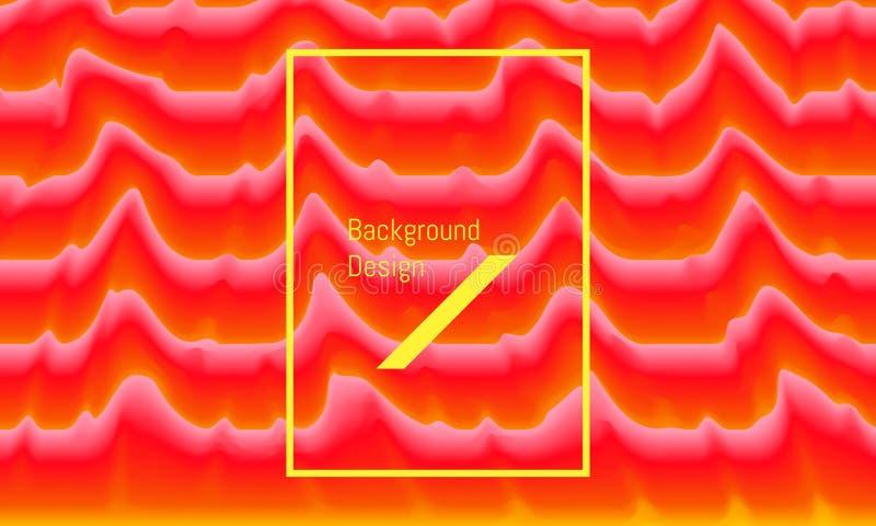 Abstracte brand brandende golf kleurrijk mooi ontwerp als achtergrond Vector illustratie EPS10 stock illustratie