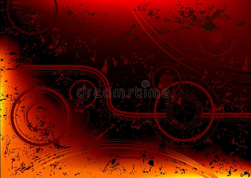 Abstracte brand grunge vector illustratie