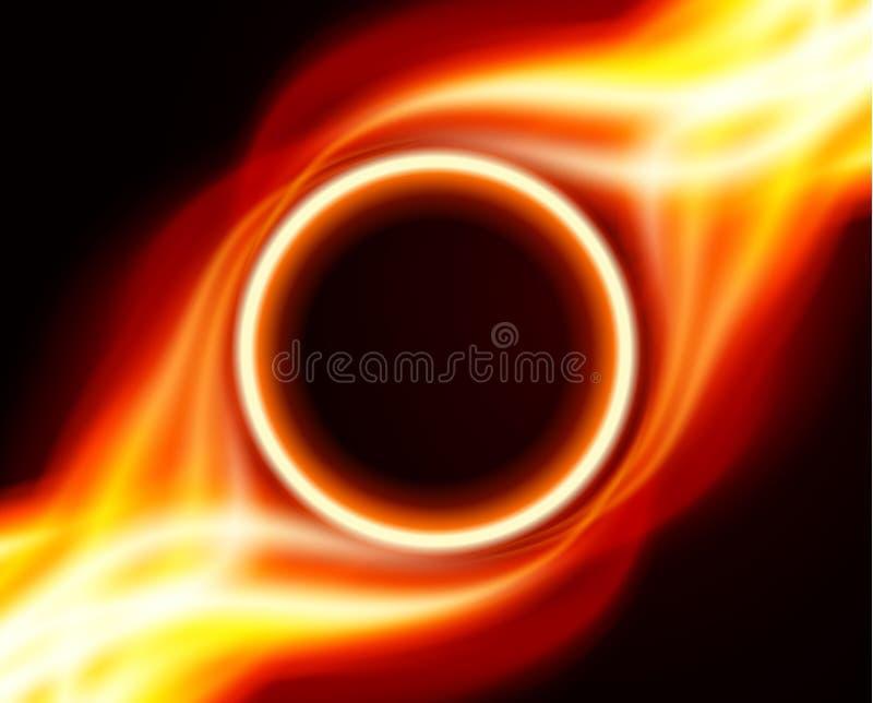 Abstracte brandende brandcirkel royalty-vrije illustratie