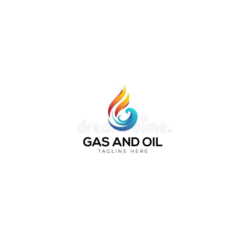 Abstracte Brief G voor Gas en olieembleem stock illustratie