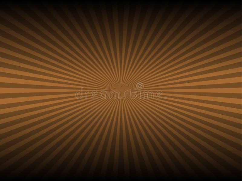 Abstracte bruine kleur en lijn gloeiende achtergrond stock illustratie