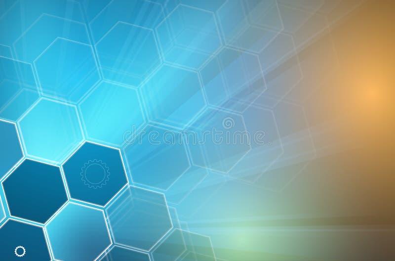 Abstracte celachtergrond Geneeskunde en sciense onderzoek vector illustratie