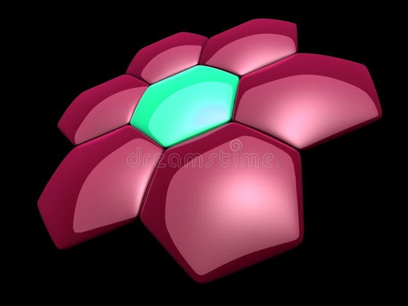 Abstracte cellen stock illustratie